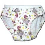 กางเกงในเด็กหญิง สีขาว ลาย Fancy Nancy กับดอกไม้ 2T