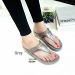 """รองเท้าแตะ พื้นคอมฟอตเพื่อสุขภาพ แบบหนีบ แต่งเพชรหน้าสวยหรู พื้นนิ่มมาก ใส่ไม่เบื้อ สูง 1.5"""""""