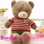 ตุ๊กตาหมีใส่เสื้อ ลายทางแดง 1.2 เมตร