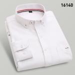 พรีออเดอร์ เสื้อเชิ้ตทำงานแขนยาว สีขาว อก 45.66 นิ้ว แฟชั่นเกาหลีสำหรับผู้ชายไซส์ใหญ่