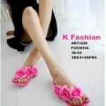 รองเท้าแตะ สุดฮิต สวยหวาน แบบหนีบ ยางนิ่มมาก แต่งดอกไม้ช่อฟรุ้งฟริ้ง ใส่สบายชิลชิล น่ารักมาก (เขียวเข้ม เขียวมะนาว ชมพู ดำดอกครีม)