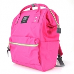 New!! กระเป๋าเป้ Anello Canvas Pink (Standard) ผ้าโพลีเอสเตอร์แคนวาส กันน้ำ