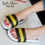 รองเท้าแตะแฟชั่น แบบสวมลายเก๋ ผ้าหนา สลับสีสไตล์แบบกุชชี่ พื้นเพื่อ สุขภาพ เน้นสวม เดินง่าย พื้น soft comfort shoes สูง 1 นิ้ว พื้นบุนวม รอง รับส้นเท้า ใส่สบาย แมทเก๋ได้ทุกชุด สีชมพู แดง เหลือง
