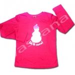 เสื้อ สีแดง ลายตุ๊กตาหิมะ 8T