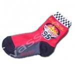 ถุงเท้า สีดำ-แดง ลาย McQueen 95 16CM