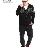 พรีออเดอร์ เสื้อไหมพรมกันหนาว ไซต์ 2XL - 6XL แฟชั่นเกาหลีสำหรับผู้ชายไซต์ใหญ่ แขนยาว เก๋ เท่ห์ - Preorder Large Size Men Size 2XL - 6XL Korean Hitz Long-sleeved Sweater