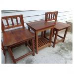 ชุดเก้าอี้นั่งเล่นจิบน้ำชาพร้อมโต๊ะกลาง