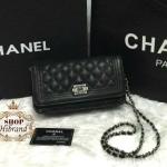 กระเป๋า Chanel 8 นิ้ว สไตล์ chanel boy mini สะพายข้างหรูหราน่ารัก ด้านในบุอย่างดี สายสะพายโซ่ พร้อมการ์ดและถุงผ้า