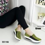 """รองเท้าผ้าใบ ยางยืดลายสาน สุด hit ทรงสวมเต็มหน้าเท้า วัสดุเกรดพรีเมี่ยม เสริมส้น 1.5"""" น้ำหนักเบา ใส่สบายกระชับเท้า เท่ห์ได้ทุกโอกาส"""