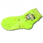 ถุงเท้า สีเขียว ลายชินจัง 17CM