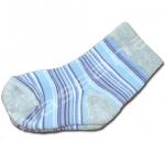 ถุงเท้า สีเทา-ฟ้า-น้ำเงิน ลายขวาง 9CM