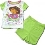 ชุดเด็ก สีขาว-เขียว ลาย Dora 3T