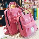 กระเป๋าเป้ Japan chic (กระเป๋าเป้สไตล์ญี่ปุ่น) สีชมพู