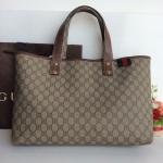 (SOLDOUT)Gucci Signature GG Canvas Shopping Bag รุ่นชนช้อป