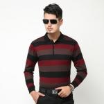 {พรีออเดอร์} เสื้อยืดโปโล แฟชั่นเกาหลีสำหรับผู้ชายไซส์ใหญ่ แขนยาว เก๋ เท่ห์ - Preorder Large Size Men Korean Hitz Longsleeved Polo Shirt