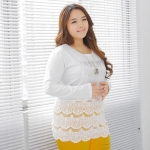 [พรีออเดอร์] เสื้้อชีฟองแฟชั่นเกาหลีใหม่ แขนยาว สำหรับผู้หญิงไซส์ใหญ่ - [Preorder] New Korean Fashion Shirt Long-Sleeved for Large Size Woman