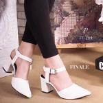 รองเท้าคัทชู ZARA style หัวแหลมหนังอย่างดี ทรงสวย ใส่ดูเท้าเรียวเล็ก ทรงใส่สบาย ไม่บีบเท้า ส้นหนา พื้นนิ่มอย่างดี สูง 2 นิ้ว สีดำ ขาว