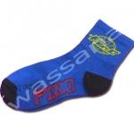 ถุงเท้า สีน้ำเงิน-ดำ ลาย Yamaha Fino 18CM