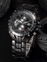 นาฬิกาข้อมือผู้ชาย สายเหล็กสีดำ Curren Watch