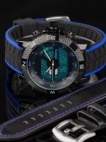 นาฬิกาข้อมือแฟชั่น ดิจิตอล LED 2 ระบบ Infantry IN-079-BLU-SET