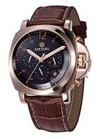 MEGIR WATCH นาฬิกาข้อมือ สายหนังแท้ รุ่น L01-BR-GB