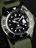 นาฬิกาข้อมือแฟชั่น สายไนลอน รุ่น IN-019-BLK-GN