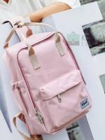 Back pack(กระเป๋าเป้ สะพายหลัง) BA043 สี พาสเทล พิ้งค์ พร้อมส่ง