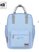 Back pack(กระเป๋าเป้ สะพายหลัง) BA043 สี พาสเทล ฟ้าอ่อน พร้อมส่ง