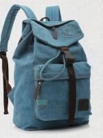 Back pack(กระเป๋าเป้ สะพายหลัง) BA003 สีฟ้า พร้อมส่ง