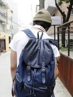 Back pack(กระเป๋าเป้ สะพายหลัง) BA039 สีน้ำเงิน พร้อมส่ง