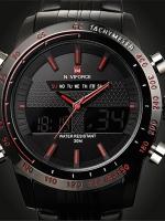 Naviforce นาฬิกาข้อมือ 2 ระบบ ดิจิตอล อนาล็อค สายสแตนเลส รุ่น NFS-01