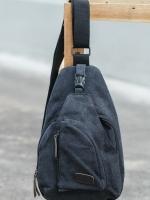 Cross Bags กระเป๋าสะพายข้าง อก CR005 สี ดำ พร้อมส่ง