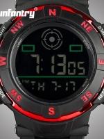 นาฬิกาข้อมือ LED ดิจิตอล ผู้ชาย ซิลิโคนดำ นาฬิกา Infantry watch (In-Stock)