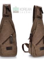 Cross Bags กระเป๋าคาด อก สะพายข้าง CR001 สี น้ำตาล พร้อมส่ง