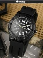 นาฬิกาแฟชั่นราคาถูก เรียบๆ สายยาง นาฬิกาInfantry watch (In-Stock)