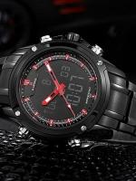Naviforce นาฬิกาข้อมือ 2 ระบบ ดิจิตอล อนาล็อค สายสแตนเลส รุ่น NFS-02