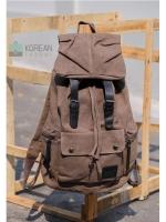 Back pack(กระเป๋าเป้ สะพายหลัง) BA001 สีน้ำตาลเข้ม พร้อมส่ง
