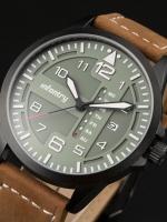 นาฬิกาข้อมือแฟชั่นชาย สายหนัง วินเทจ Infantry Watch รุ่น FS-006-G-L