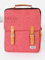 Back pack Use House (กระเป๋าเป้ สะพายหลัง) BA018 สีแดงอ่อน พร้อมส่ง