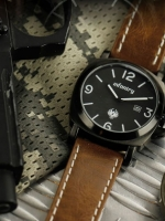 นาฬิกาข้อมือเท่ๆ วินเทจ มีสไตล์ สายหนัง นาฬิกาInfantry watch (In-stock)