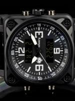 นาฬิกาข้อมือแฟชั่น สายหนัง เท่ๆ ทรงสี่เหลี่ยม Infantry watch (In-Stock)