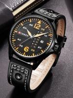 นาฬิกาข้อมือ Curren สายหนังแท้ รุ่น A17
