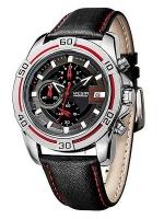 MEGIR WATCH นาฬิกาสปอร์ต สายหนัง รุ่น C01-BLK-Silver