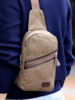 กระเป๋าคาด อก สะพายข้าง CR017 สีน้ำตาลเข้ม พร้อมส่ง