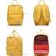 8848 Back pack(กระเป๋าเป้ สะพายหลัง) BA043 สีเหลือง พร้อมส่ง thumbnail 4