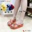 รองเท้าแฟชั่น เพื่อสุขภาพ Cross 2-Tone Fitflop Style ดีไซน์แบบสวม ด้านหน้าไขว้สีทูโทน มาพร้อมกับโลโก้จรเข้สีทอง พื้น Soft Comfort นุ่ม ใส่สบายเท้า thumbnail 1