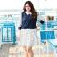 [พรีออเดอร์] เสื้้อเดรสแฟชั่นเกาหลีใหม่ แขนยาว ลายจุด สำหรับผู้หญิงไซส์ใหญ่ - [Preorder] New Korean Fashion Dress Polka Dot Long-Sleeve for Large Size Woman thumbnail 1