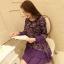 [พรีออเดอร์] เสื้้อเดรสสั้นแฟชั่นเกาหลีใหม่ สำหรับผู้หญิงไซส์ใหญ่ - [Preorder] New Korean Fashion Short Dress for Large Size Woman thumbnail 2