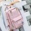 8848 Back pack(กระเป๋าเป้ สะพายหลัง) BA043 สี พาสเทล พิ้งค์ พร้อมส่ง thumbnail 1