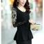 **พรีออเดอร์** ชุดเดรสผู้หญิงแฟชั่นเกาหลีใหม่ แบบ 2 ชิ้น กระโปรงแยก หรือชิ้นเดียวกัน แขนยาว ลูกไม้ แบบเก๋ เท่ห์ / **Preorder** New Korean Fashion Lace Stitching Round Neck 2 pieces with Split Skirt or 1 piece Long-Sleeved Dress thumbnail 1